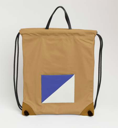 Matter Matters Gallery The square Drawstring Backpack - Tan