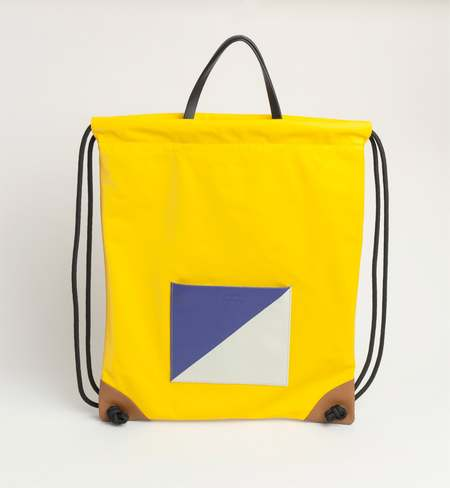 Matter Matters Gallery The square Drawstring Backpack - Yellow