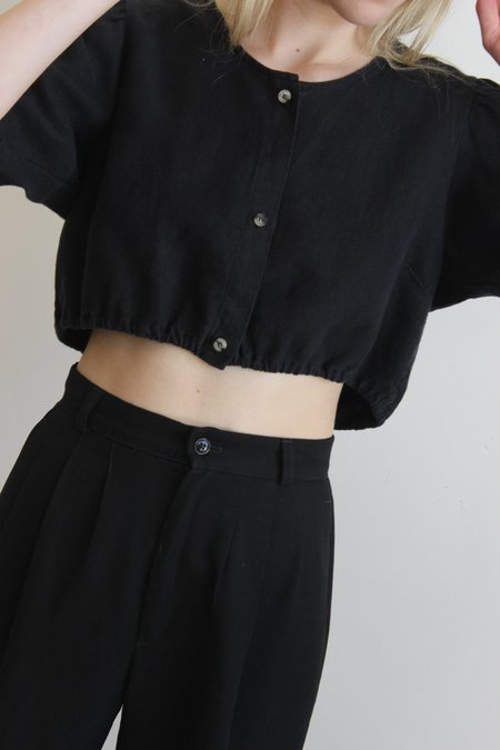First Rite button blouse - Black