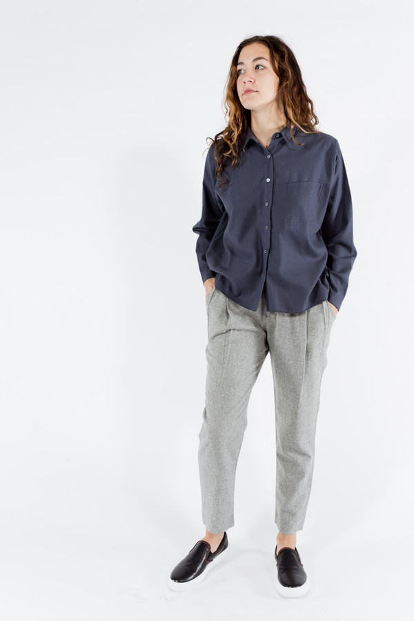 Le Mont St. Michel Silk Bourette Shirt