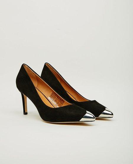 Shoe the Bear CORA METAL AND SUEDE HEEL - BLACK