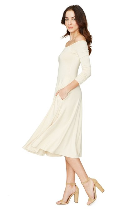 Rachel Pally LONG SLEEVE LOVELY DRESS - CREAM