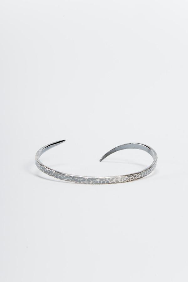 Knobbly Studio Tapered Cuff Oxidized Silver