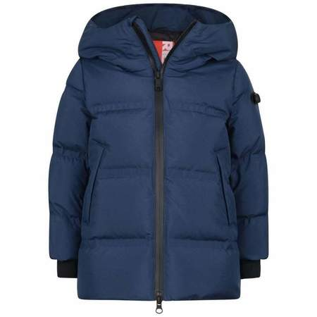 kids AI Riders On The Storm long puffy jacket - navy