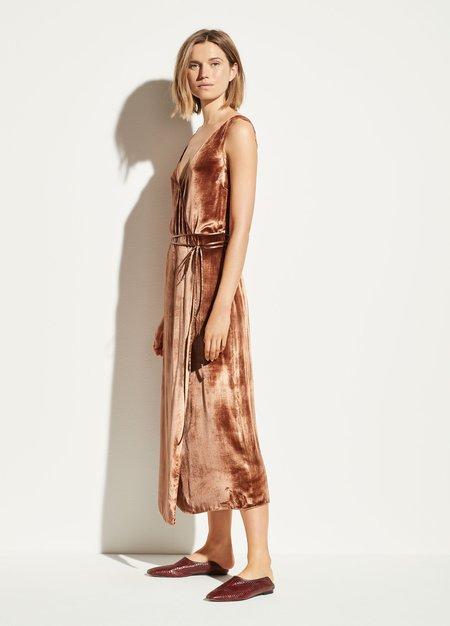 Vince Panné Wrap Dress - Rose Gold