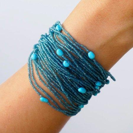 Eva Nueva Beaded Bracelet - Blue Apatite/Turquoise