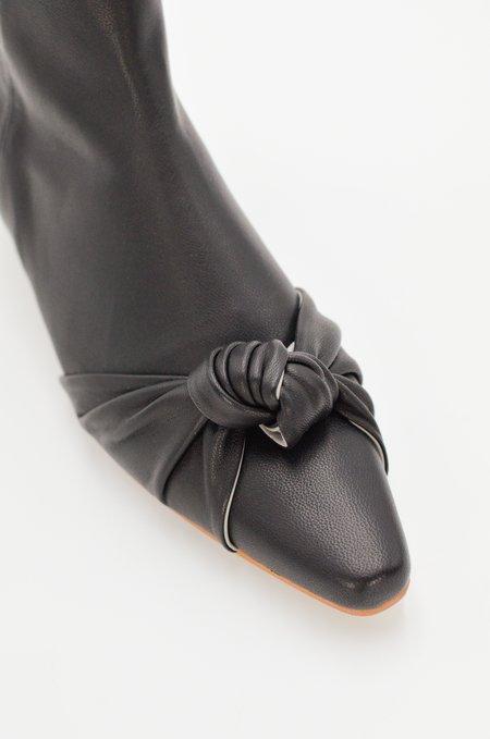 Reike Nen Tied Kitten Heel Boots - Black