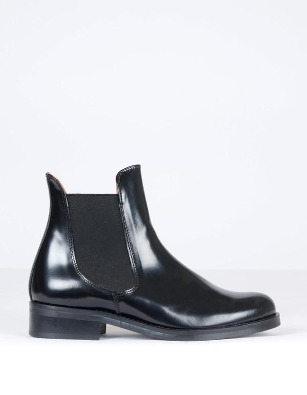 Ganni Sue Shine Ankle Boots Black