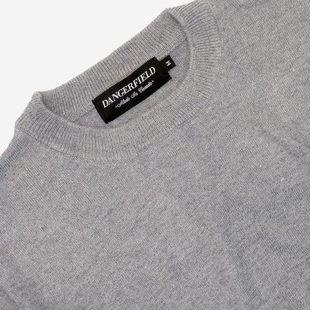 Dangerfield Cashmere/Wool Crewneck Sweater - Speckle Grey