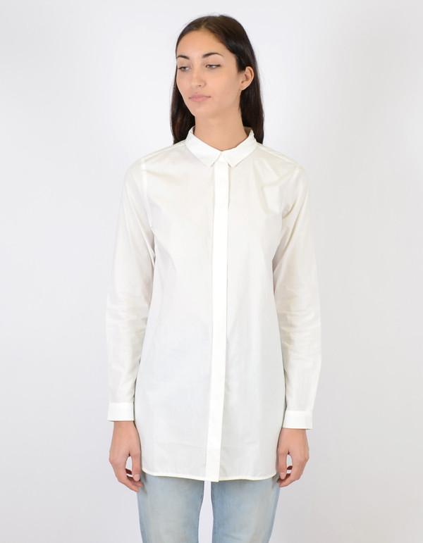 Just Female Pocca Long Shirt White