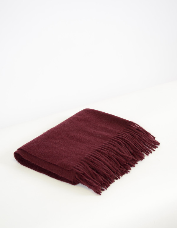 Minimum Gry Wool Scarf Dark Rose
