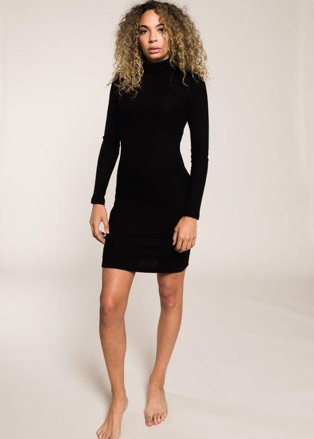 LnA Zip Turtleneck Dress - Black
