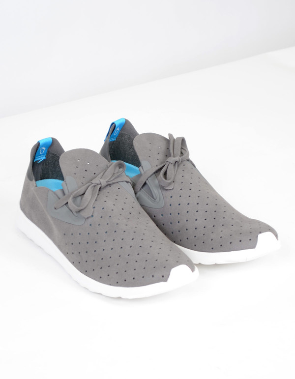 Men's Native Shoes Native Apollo Moc Dublin Grey with Jiffy Black and Shell White