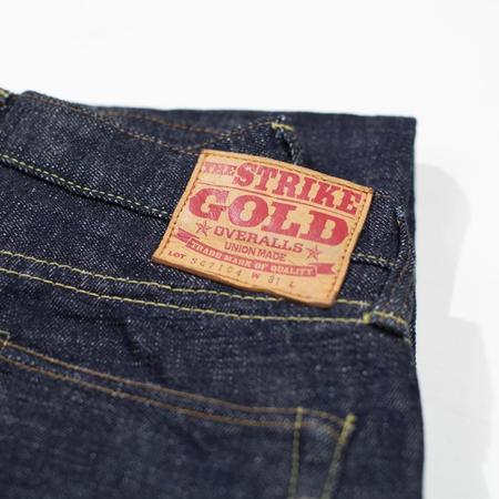 The Strike Gold . Ultra Slubby Straight Tapered Jeans - Denim