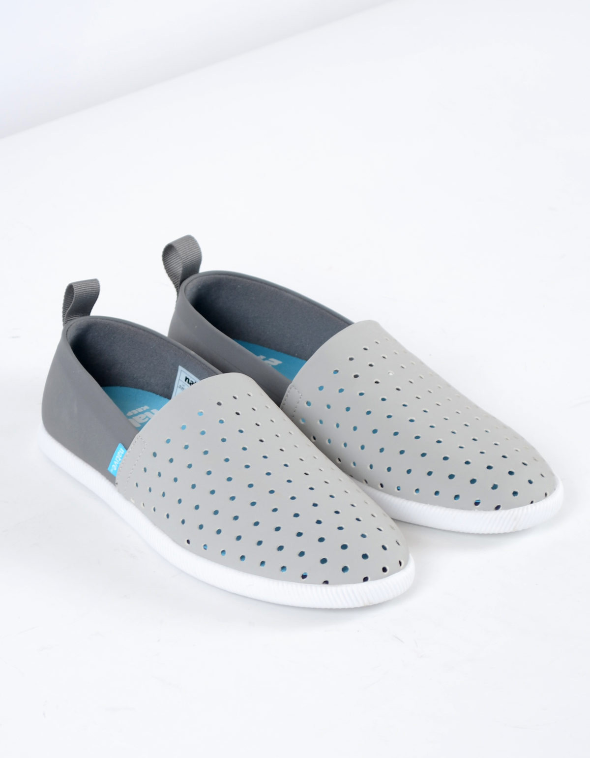 Native Shoes Native Venice Pigeon Grey with Dublin Grey and Shell White |  Garmentory