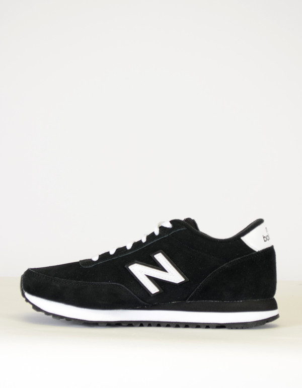 New Balance 501 All Suede Collection Sneaker Black White