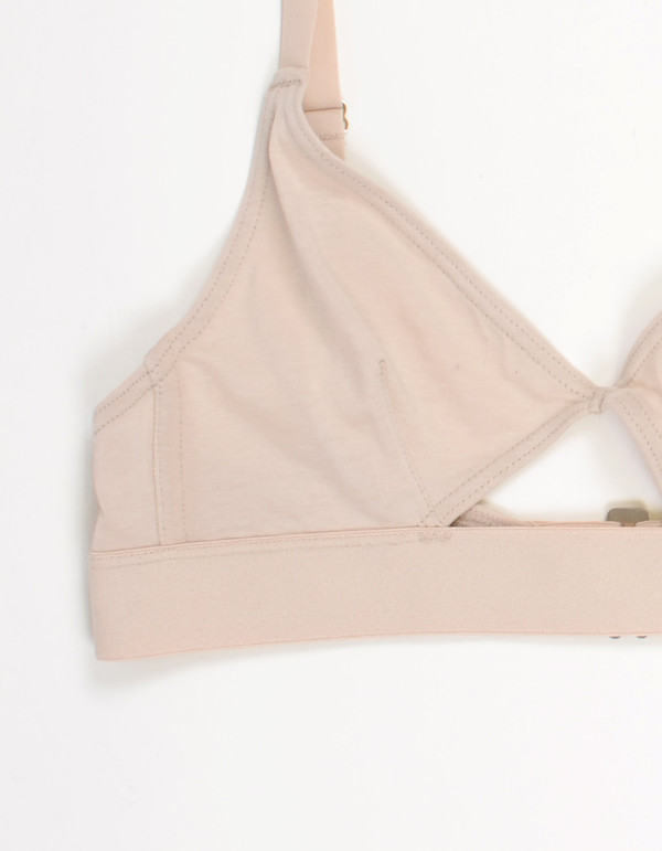 Nude Label Cut Out Bra Off White