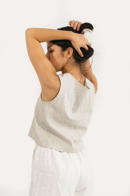 Two Fold Clothing Elspeth Linen Tank - Flax