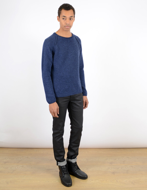 Men's Nudie Vladimir Neps Sweater Blue