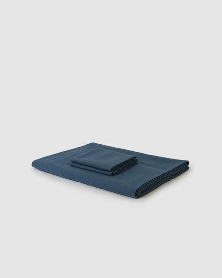 Shop Sunday Morning Marcel Linen Duvet Set - Adriatic