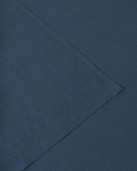Shop Sunday Morning Marcel Linen Fitted Sheet - Adriatic