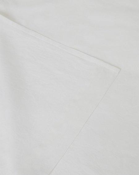 Shop Sunday Morning Marcel Linen Flat Sheet - Milk