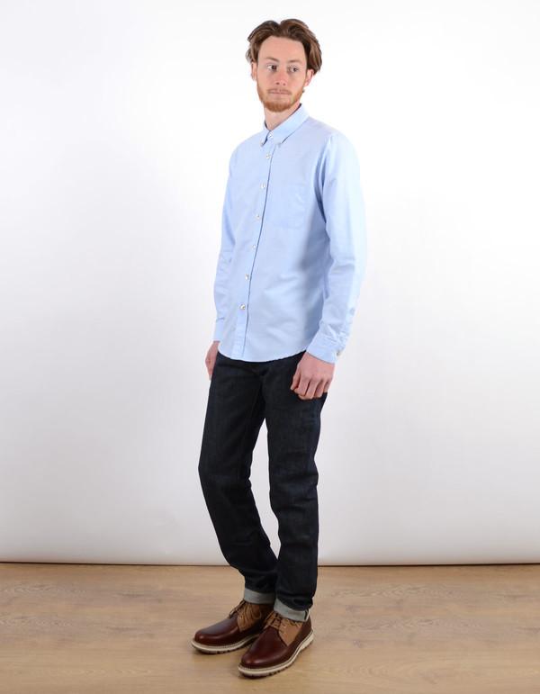 Men's Portuguese Flannel Videira Shirt Light Blue