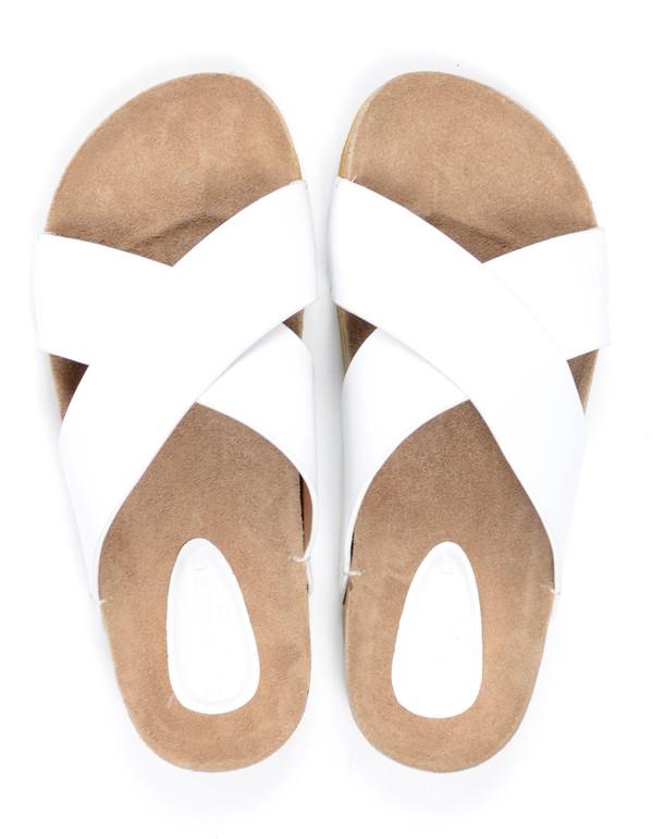 Selected Femme Brisa Leather Slider White