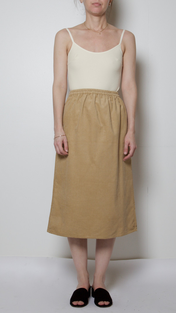 Baserange Corduroy Jogging Skirt in Nude