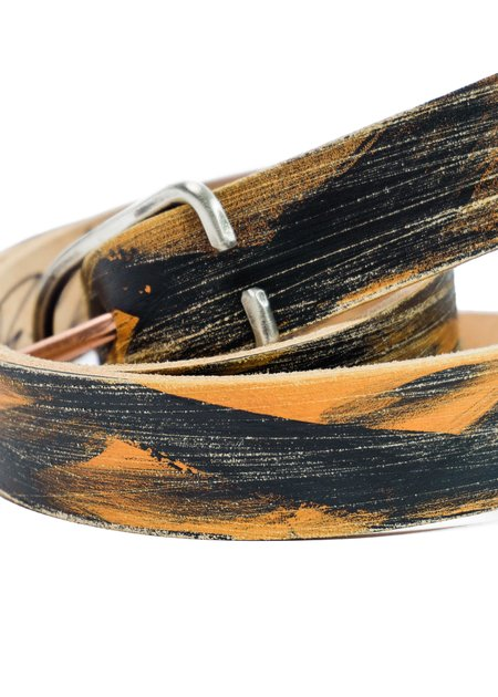 Cause And Effect Textured Paint Belt - Brown/Black