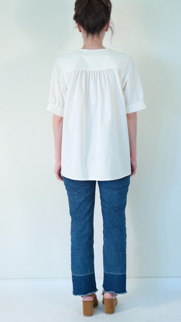 Caron Callahan Lizzy Shirt in Cream Broadcloth