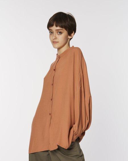 Rita Row Maxi shirt - clay