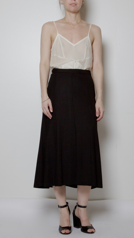 Rachel Comey Ribbed Croft Skirt in Black
