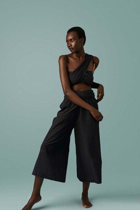 Par en Par Tie Waist Culottes - Black