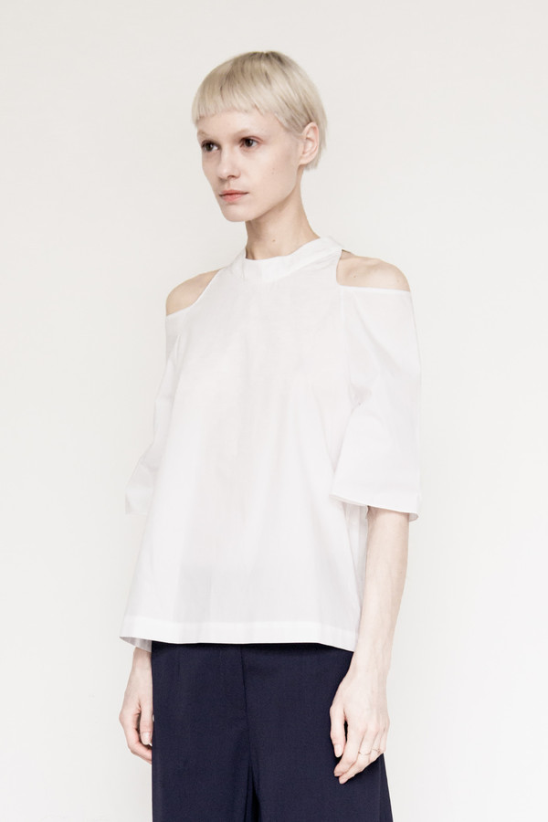 Sayaka Davis Cotton Cropped Shoulder Shirt