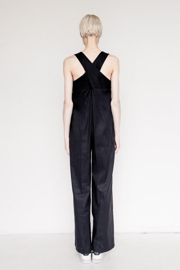 Sayaka Davis Linen Strap Jumpsuit