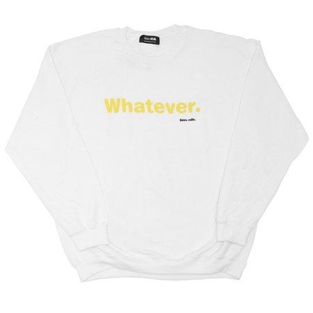 UNISEX Skim Milk whatever sweater - WHITE
