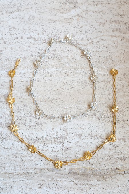 Leigh Miller Poppy Chain Choker Necklace - Gold