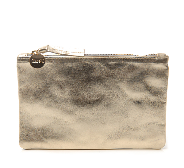 Clare V. Gold Wallet Clutch
