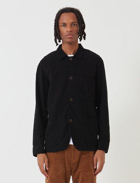 Portuguese Flannel Labura Cord Workwear Jacket - Black