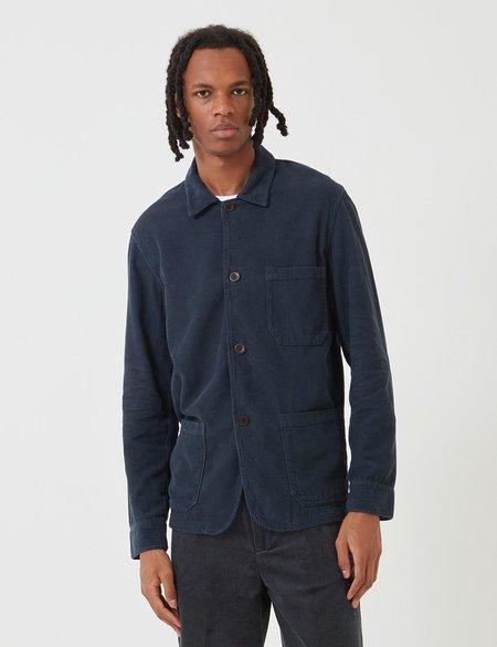 Portuguese Flannel Labura Workwear cord Jacket - Navy Blue