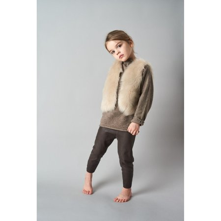 kids belle enfant leather leggings - brown
