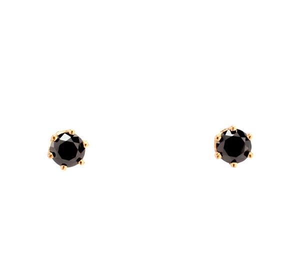 Satomi Kawakita E2902BK 14K Black Diamond Earrings