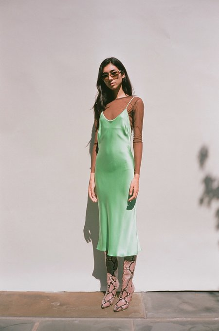 Priscavera Keyhole Slip Dress - Mint