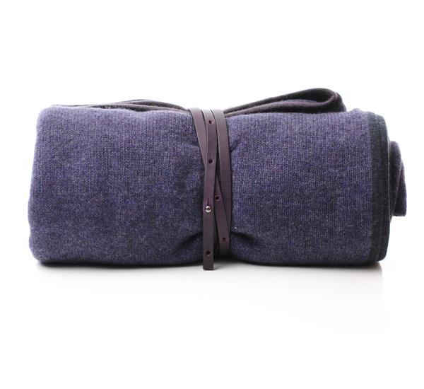 Oyuna Amethyst Daya Cashmere Travel Blanket