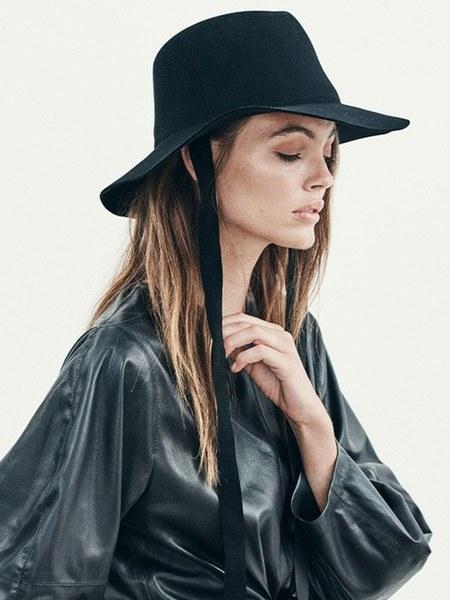 Janessa Leone Jordan Fedora - Black