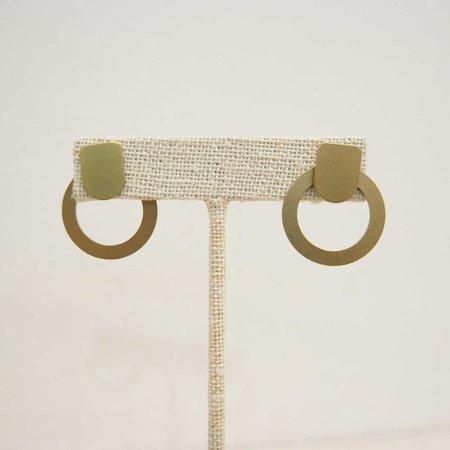 Natalie Joy Empty Circle Ear Jacket - Brass