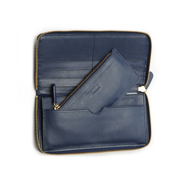 Steve Mono Navy Wallet