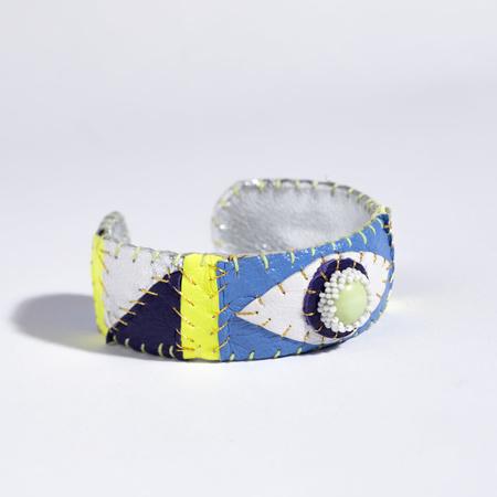 Robin Mollicone Eye Cuff - Lemon Chrysoprase