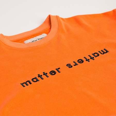 MATTER MATTERS The Objects Sweatshirt - Neon Orange